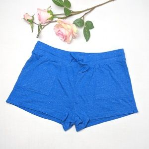 Athletic Works blue running comfy shorts, large